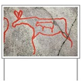 Prehistoric rock petroglyph - Yard Sign