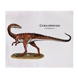 Coelophysis Throw Blanket