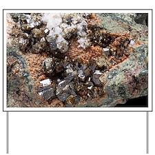 Vesuvianite mineral sample - Yard Sign