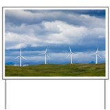 Wind turbines at Pincher Creek - Yard Sign
