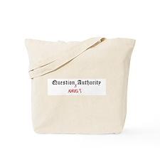 Question Adriel Authority Tote Bag