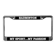 Badminton License Plate Frame
