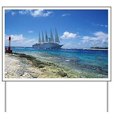 Cruise ship - Yard Sign