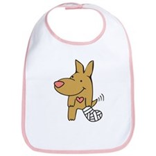 Broken Leg - Wagging Tail Bib