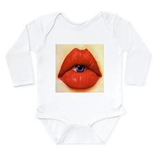Lip eye Body Suit