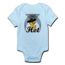 Hot Chick in Black Infant Bodysuit