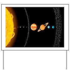 Solar system planets, artwork - Yard Sign