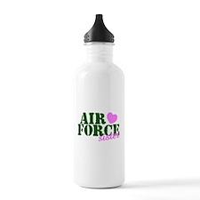 AF Sister Pink Heart Water Bottle