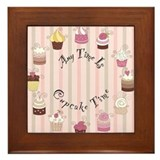 Cute Desserts Framed Tile