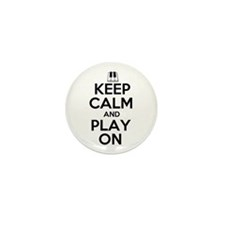 Keep Calm and Play On Piano Mini Button (100 pack)