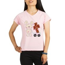 Bunny with a cross Peformance Dry T-Shirt
