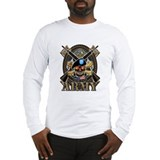 US ARMY Skull T-Shirt Long Sleeve T-Shirt
