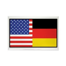 USA/Germany Rectangle Magnet