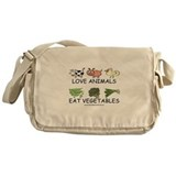 Cute Vegetarian Messenger Bag