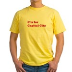 C is for Capital City Yellow T-Shirt