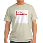 C is for Capital City Ash Grey T-Shirt