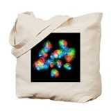 Quark structure of carbon atom nucleus - Tote Bag