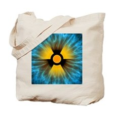 Iris with radiation warning sign - Tote Bag