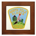 North Pole Police Framed Tile