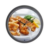 Fish and chips - Wall Clock