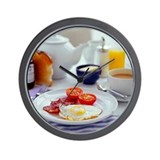 Fried breakfast - Wall Clock