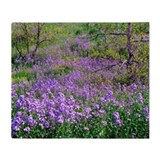 Wildflowers South Dakota Throw Blanket