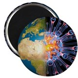 Global flu pandemic, artwork - Magnet