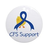 CFS Support Chick Ornament (Round)