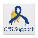 CFS Support Chick Tile Coaster