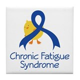 Chronic Fatigue Syndrome Chick Tile Coaster