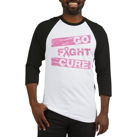 Breast Cancer Go Fight Cure Baseball Jersey