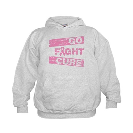 Breast Cancer Go Fight Cure Kids Hoodie