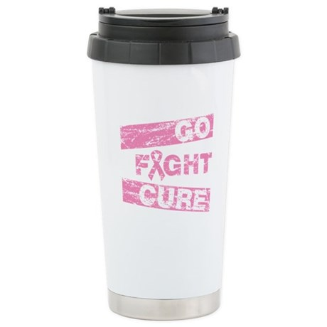 Breast Cancer Go Fight Cure Ceramic Travel Mug