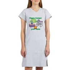 Custom Happy Camper Mouse Women's Nightshirt