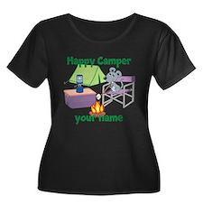 Custom Happy Camper Mouse Plus Size T-Shirt