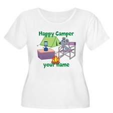 Custom Happy Camper Mouse Plus Size T-Shirt