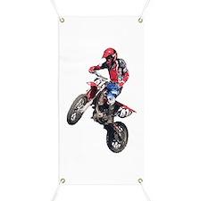 Red Dirt Bike Banner