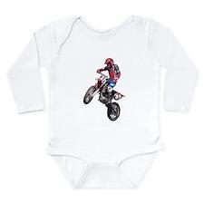 Red Dirt Bike Long Sleeve Infant Bodysuit