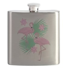 Tropical Flamingos Flask