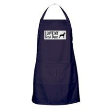I Love My Great Dane Apron (dark)