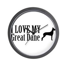 I Love My Great Dane Wall Clock