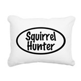 Squirrel Hunter Rectangular Canvas Pillow