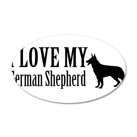 I Love my German Shepherd Wall Decal