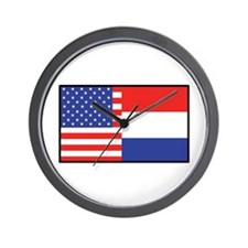 USA/Holland Wall Clock