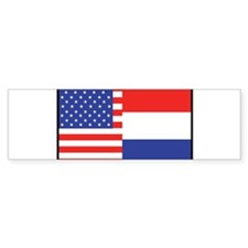 USA/Holland Bumper Bumper Sticker