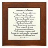 Funny Dancer Framed Tile