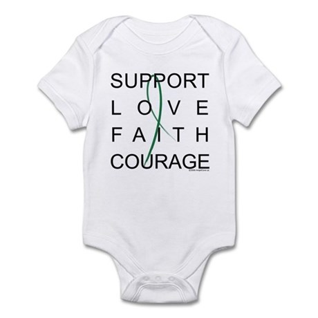 Support Block Text Infant Bodysuit