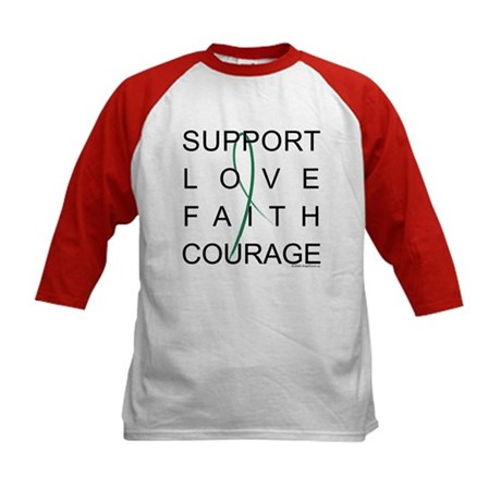 Support Block Text Kids Baseball Jersey