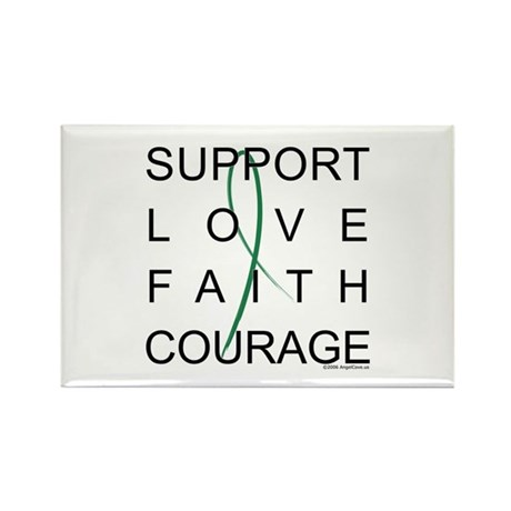 Support Block Text Rectangle Magnet