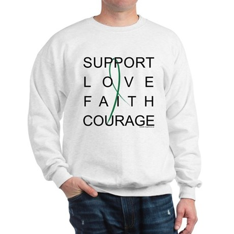 Support Block Text Sweatshirt